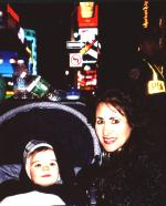 Mommy and Jacob in Time Square