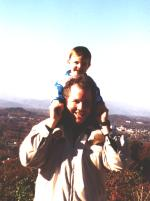 Daddy and Jacob at Carter's Mountain
